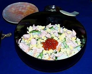 Chirashi - Bol de riz à l'oeuf et au saumon Chirashi